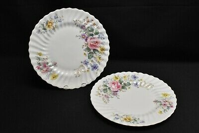 Royal Doulton Arcadia Green Backstamp Pair of Dinner Plates
