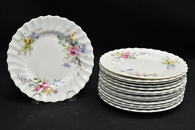 Royal Doulton Arcadia Green Backstamp Set of 14 Bread & Butter Plates