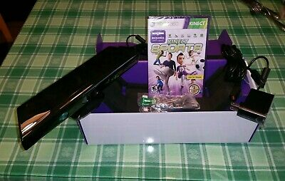 Xbox 360 Kinect Sensor, complete in box with Kinect Sports - sold AS-IS