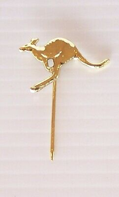Vintage Australia Flying Kangaroo Souvenir Lapel Pin Coat Hat Badge Australian
