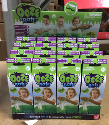 WHOLESALE 32 x GREEN OOZE BATH MAKE YOUR OWN SLIME MESSY PLAY FUN TOYS 2 x CDU'S