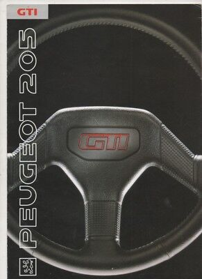 Peugeot 205 GTI     1991     catalogue brochure