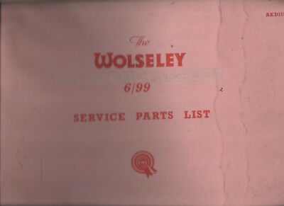 WOLSELEY  6/ 99  service parts list