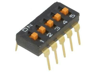 A6T-5104 Switch DIP-SWITCH Poles number5 ON-OFF 0.025A/24VDC 100MΩ OMRON