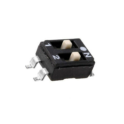 2x ESD102E Switch DIP-SWITCH Poles number2 ON-OFF 0.1A/50VDC -25÷70°C DM-02-V