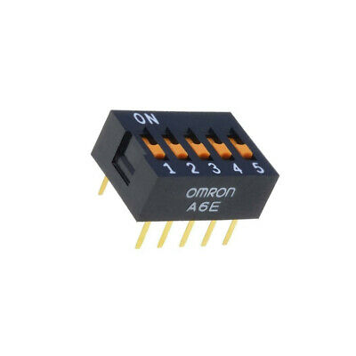 A6E-5101 Switch DIP-SWITCH Poles number5 ON-OFF 0.025A/24VDC 100MΩ A6E-5101-N