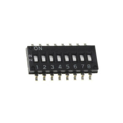 A6H-8101 Switch DIP-SWITCH Poles number8 ON-OFF 0.025A/24VDC 100MΩ OMRON