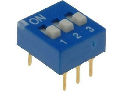 EDG103S Switch DIP-SWITCH Poles number3 ON-OFF 0.1A/24VDC -25÷70°C ECE