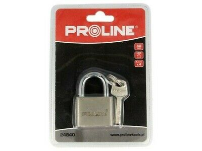 PRE-24840 Padlock Kind shackle Equipment4 keys 40mm 24840 PROLINE