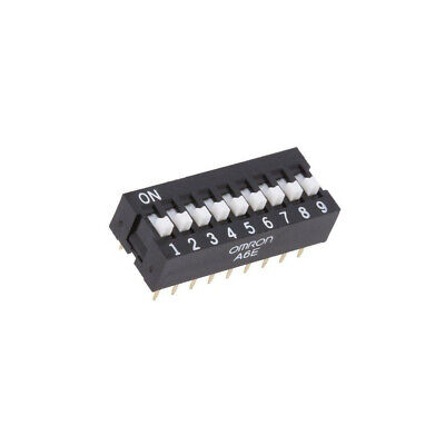 A6E-9104 Switch DIP-SWITCH Poles number9 ON-OFF 0.025A/24VDC 100MΩ  OMRON