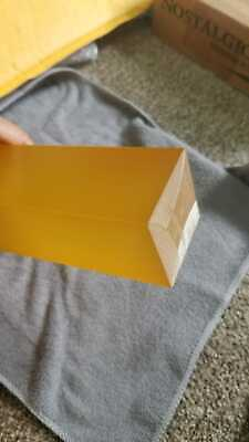 90A Durometer 1//16 Thick No Backing Amber Smooth 12 Length 12 Width Polyurethane Sheet ASTM D-470