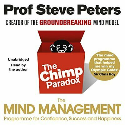 Chimp Paradox by Prof Steve Peters New CD-Audio Book