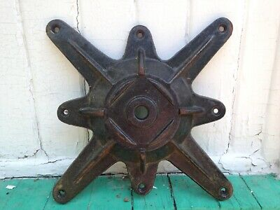 One Cast Iron Metal Industrial Age Architectural Black Dog Salvage Antique