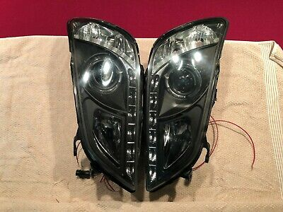 01-05 Lexus IS300 Black Halo Projector DRL LED Headlights Pair (HID Included)