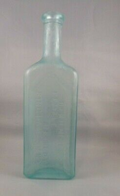 Antique Dr. Kilmer's Medicine Aqua Bottle Female Remedy Binghamton N.Y.