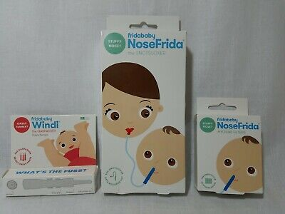Nose Frida Snot Sucker by fridababy Nasal Aspirator+ 24 Filters plus Windi NEW