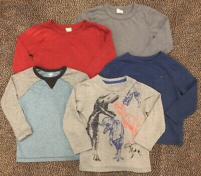 J.CREW Baby Gap Old Navy Boys Long Sleeve T-Shirts Size 3T EUC LN