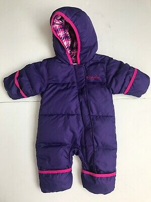 7bf669c9b Columbia Infant Girls Down Bunting Snowsuit Color Purple Size 0-3 Months