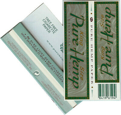 2 Packs Pure Hemp Brand 1 1/4 Rolling Papers 1.25 50 Lvs - Fast USA Shipper