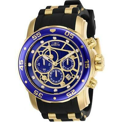 Invicta Men's Pro Diver Scuba Gold-Tone Watch with Blue Dial 25707 Chronograph