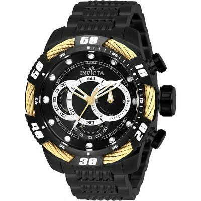 Invicta Speedway 27061 Mens Black Ion Plated/Beige Tone Cable Chronograph Watch