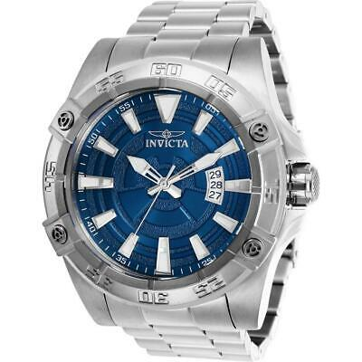 Invicta Pro Diver 27015 Men's 52mm Silver Tone Automatic Watch with Blue Dial