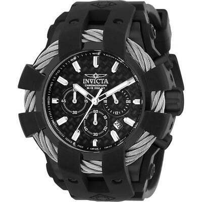 Invicta Bolt 23863 Men's Cable Round Chronograph Black Silicone Watch