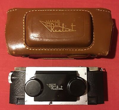 Ilex Stereo Realist 3D Camera With Leather Case