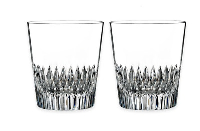 WATERFORD *DINAH* Double Old Fashioned Crystal Glasses Tumblers - Set of 2 - NIB