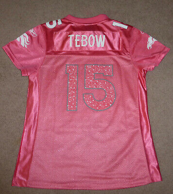 Cheap WOMENS TIM TEBOW Jersey Denver Broncos Pink Medium Reebok NFL Team  hot sale