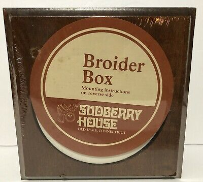 Sudberry House Broider Box Display Box - Embroidery -Cross Stitch - Needlepoint