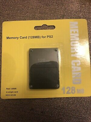 Old Skool Playstation 2 PS2 128MB Memory Card ** BRAND NEW **