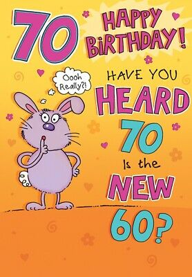 Large Fun Female 70th Birthday Greeting Card 70 Years Old Today