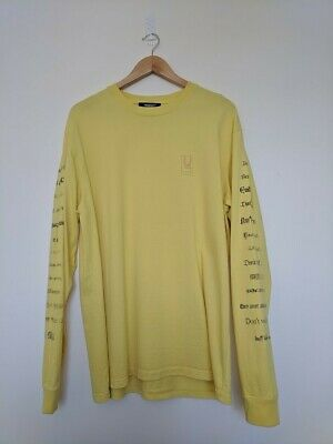 8890a9a5b Undercover Long Sleeve Yellow Printed Used processing Tee shirt Sz. 3 / L