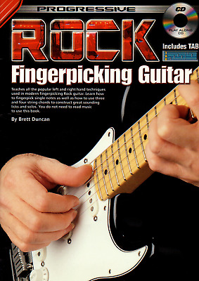 ROCK FINGERPICKING GUITAR Learn How To Play Music Book & CD Shop Soiled Cover
