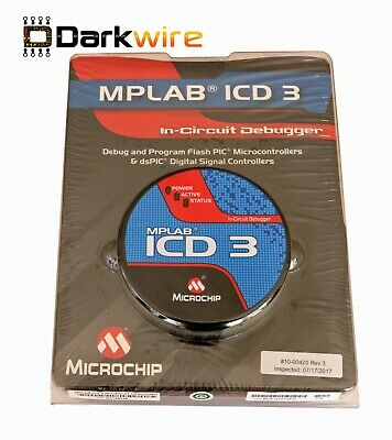Genuine Microchip ICD 3 In-Circuit Programmer & Debugger - DV164035 - PIC dsPIC