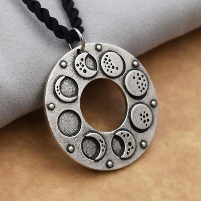 Lunar Eclipse Full Blue Moon Pendant Necklace Space Astronomers Wizard