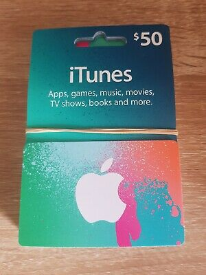 Unused Apple iTunes $50 gift card.