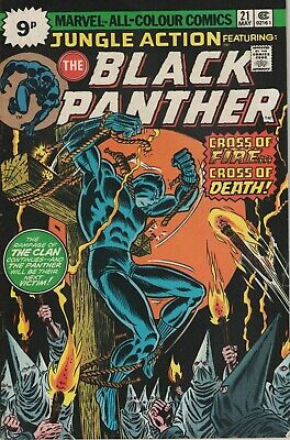 Jungle Action # 21 , Featuring The Black Panther, High Grade Copy