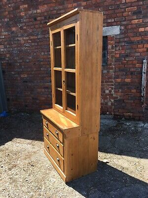 Rustic Vintage  Late Victorian Pine Kitchen Larder Pantry Cupboard Linen Press