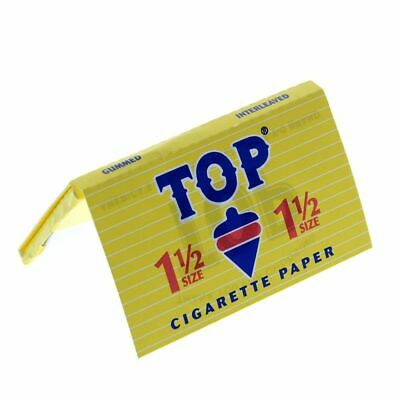 TOP 1 1/2 Rolling Papers - 1 PACK - Fine Gummed Cigarette RYO Tobacco 1.5 FAST