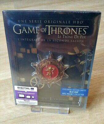 Game Of Thrones Second Season 2 Blu-ray Steelbook with Sigil Magnet New Sealed