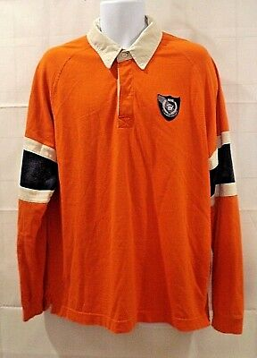 391ad272 Vintage Nike Mens XL Polo Rugby Collar Golf Long Sleeve Shirt Size XL