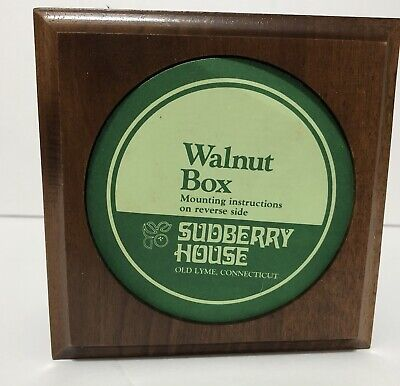 Sudberry House Walnut Box Display Box - Embroidery -Cross Stitch - Needlepoint