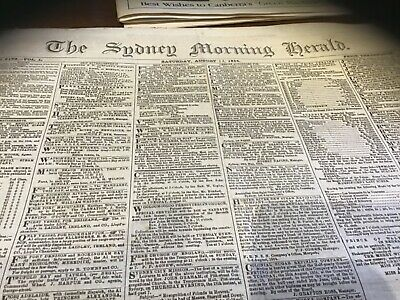 August 13 1864 antique newspaper Rockingham Bay Qld settlement police reports