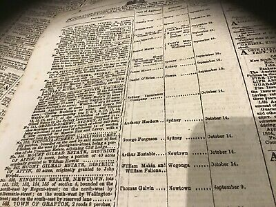 old newspaper September 3 1864 Anthony Hordern Fairfax land police reports