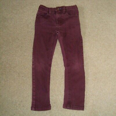 Boy's NEXT Maroon Jeans Size 5 Years Denim Burgundy