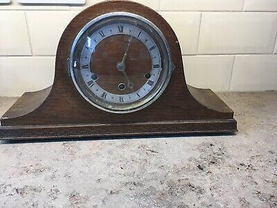 Mauthe German Wooden Mantle Clock Westminster Chime