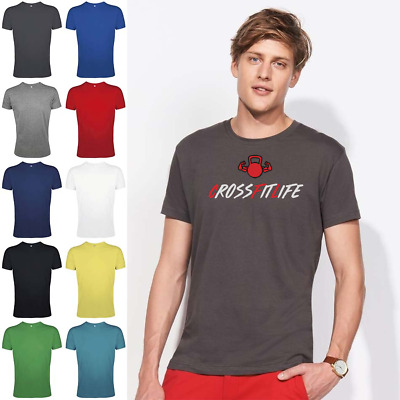 GYM CROSSFIT LIFE T-SHIRT functional fitness workout training top tee tshirt wod