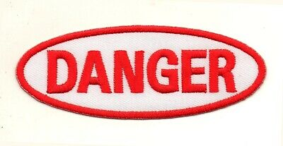 e7588aad85dc 2 NAME TAG DANGER DANGEROUS EMBROIDERED IRON ON PATCH + Free ...